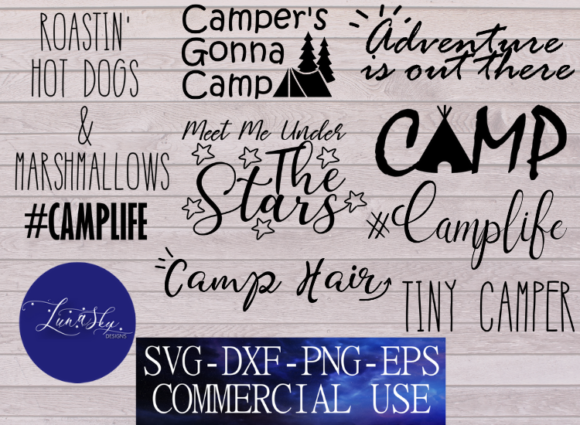 Download Free Camping Bundle Camp Life Camping Quotes Grafico Por Lunaskysvg for Cricut Explore, Silhouette and other cutting machines.