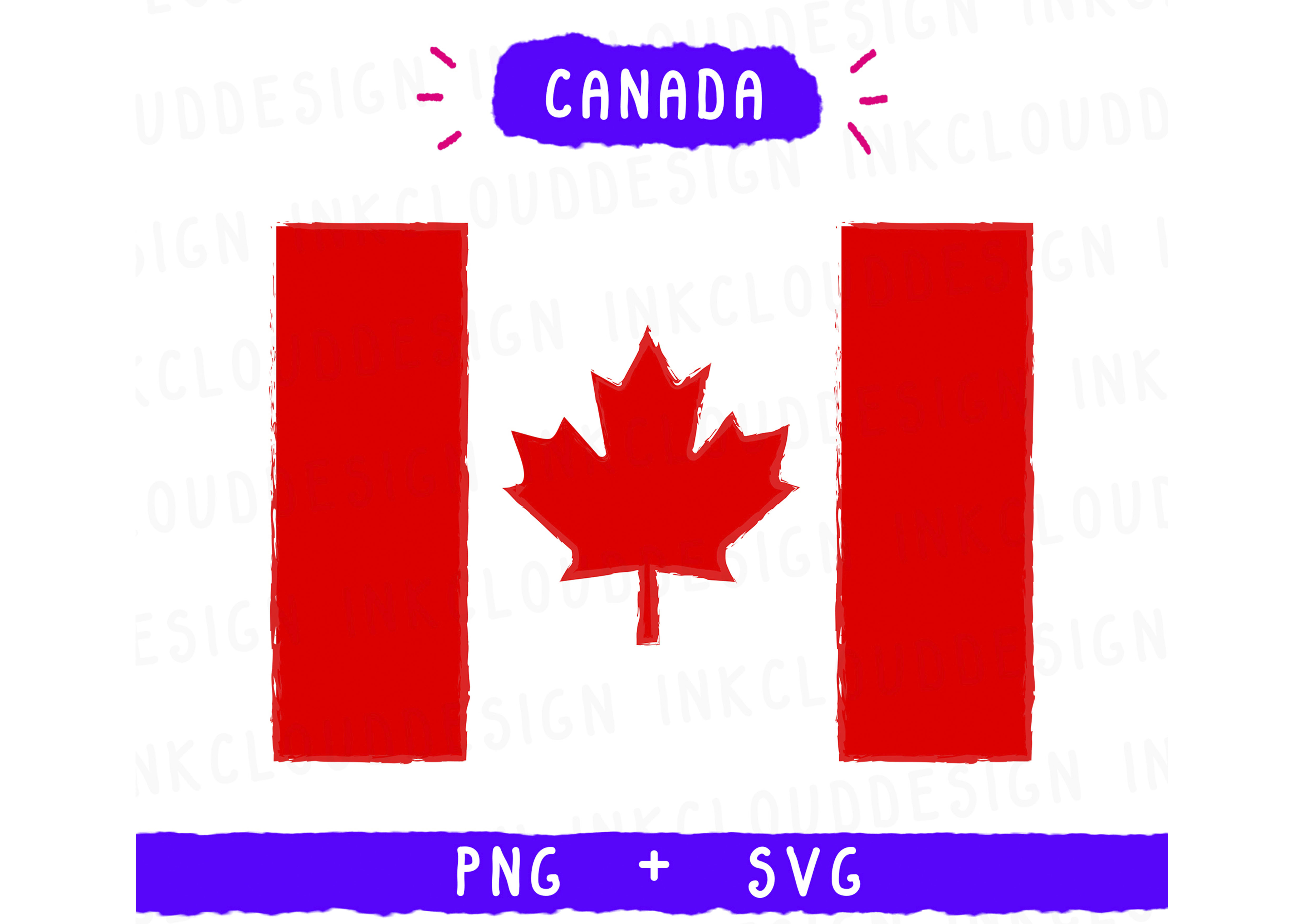 Download Free Canada America Usa Graphic By Inkclouddesign Creative Fabrica for Cricut Explore, Silhouette and other cutting machines.