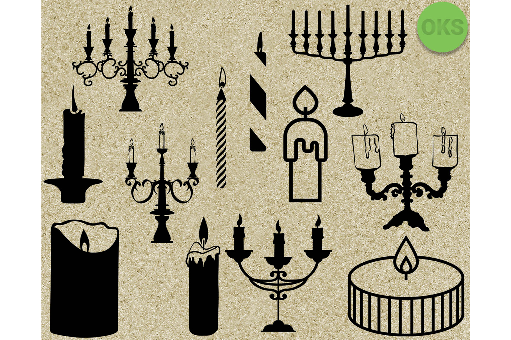 Download Free Candle Files Graphic By Crafteroks Creative Fabrica for Cricut Explore, Silhouette and other cutting machines.