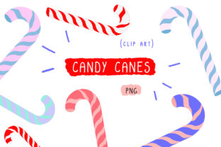 Candy Canes Cutting File Clip Art Graphic By Inkclouddesign
