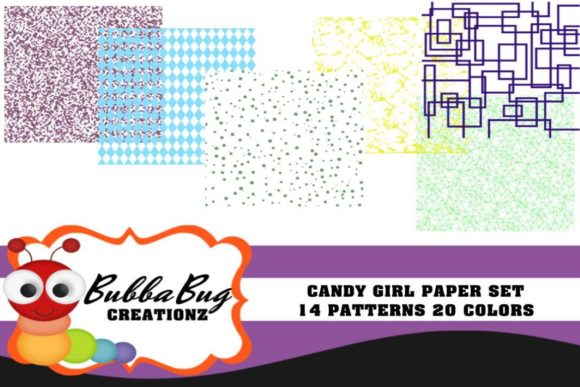 Candy Girl Paper Set Graphic Patterns By BUBBABUG - Image 1