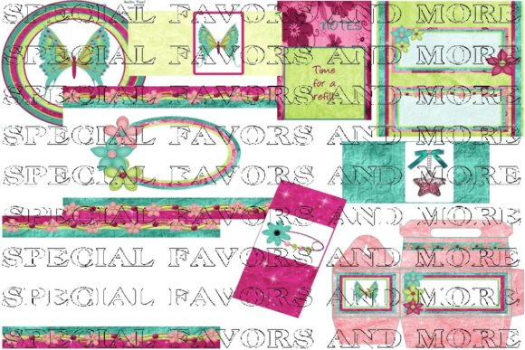 Candy Kisses Candy Wrappers Set Graphic Crafts By BUBBABUG