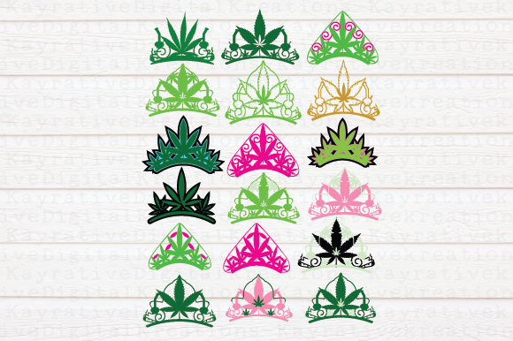 Download Free Cannabis Crown Svg Graphic By Kayla Griffin Creative Fabrica for Cricut Explore, Silhouette and other cutting machines.