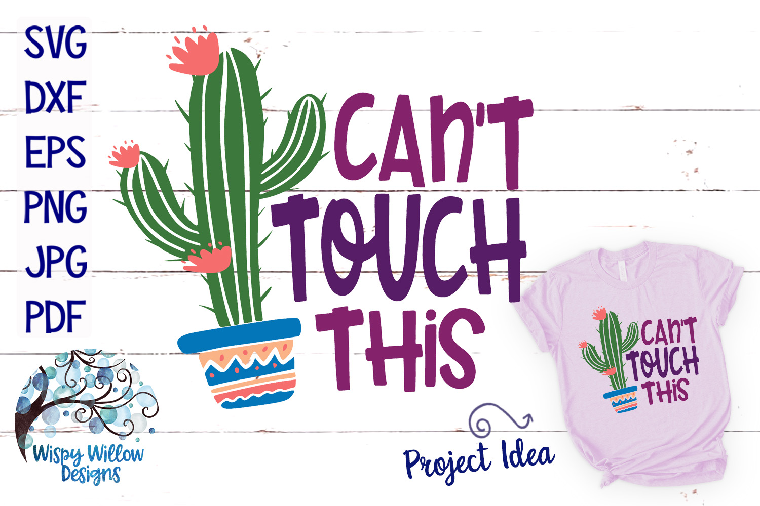 Download Free Can T Touch This Cactus Svg Graphic By Wispywillowdesigns for Cricut Explore, Silhouette and other cutting machines.