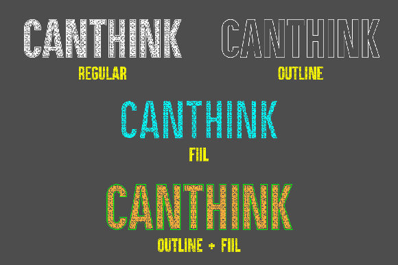 Print on Demand: Canthink Decorative Font By da_only_aan - Image 3