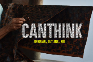 Canthink Font By da_only_aan