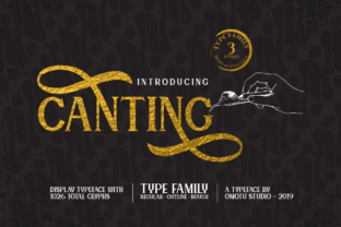 Canting Font By Omotu