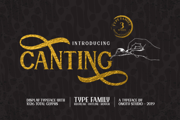 Print on Demand: Canting Display Font By Omotu