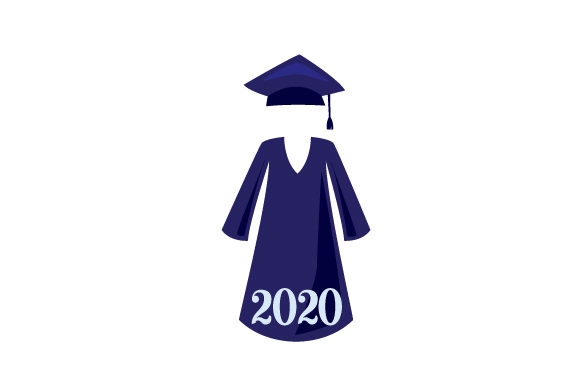Download Free Cap And Gown In A Navy Blue Color 2019 Svg Cut File By Creative for Cricut Explore, Silhouette and other cutting machines.