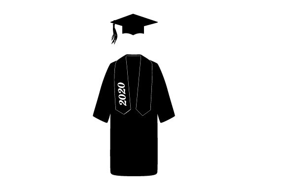 Download Free Cap And Gown In A Navy Blue Color With A Tassel 2020 Archivos De SVG Cut Files