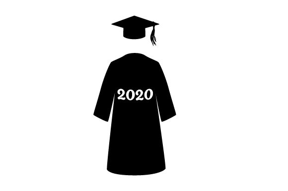 Download Free Cap And Gown In A Navy Blue Color With A Tassel 2020 Svg Cut File for Cricut Explore, Silhouette and other cutting machines.