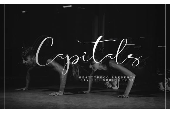Print on Demand: Capitals Script & Handwritten Font By besttypeco - Image 1