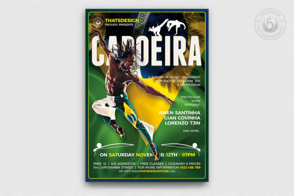 Capoeira Flyer Template Graphic By ThatsDesignStore