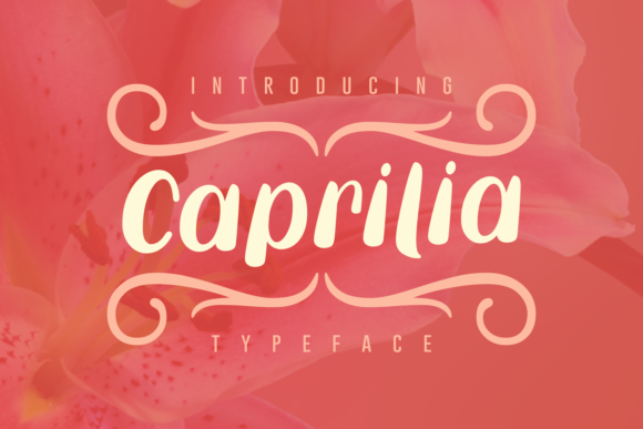 Print on Demand: Caprilia Script & Handwritten Font By Rifki (7ntypes)