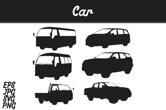 Download Free Car Silhouette Set Svg Vector Image Bundle Graphic By Arief for Cricut Explore, Silhouette and other cutting machines.