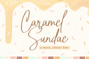 Caramel Sundae Font By Reg Silva Art Shop