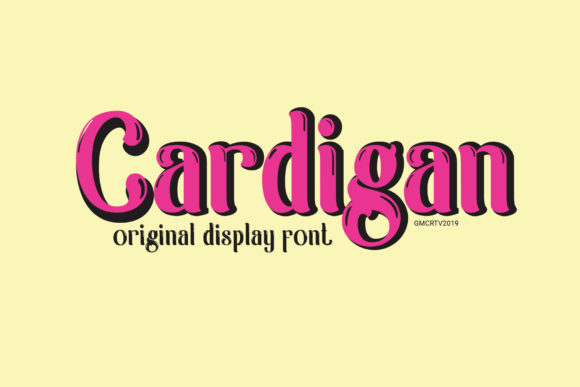 Print on Demand: Cardigan Display Font By gumacreative