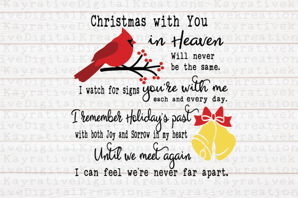 Download Free Cardinal Christmas Memorial Svg Graphic By Kayla Griffin Creative Fabrica for Cricut Explore, Silhouette and other cutting machines.