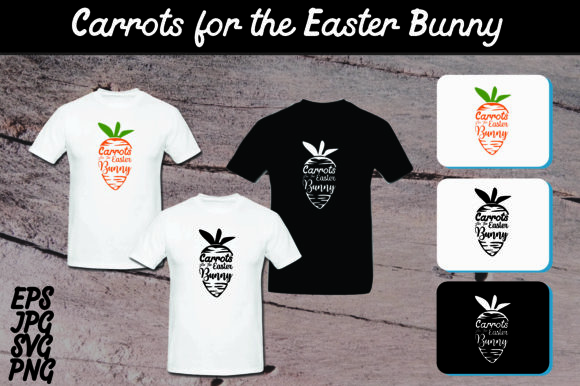 Carrots For The Easter Bunny Set Svg Vector Image Graphic By