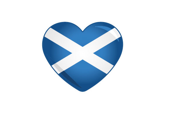 Download Free Cartoon Heart With Scottish Flag Svg Cut File By Creative for Cricut Explore, Silhouette and other cutting machines.