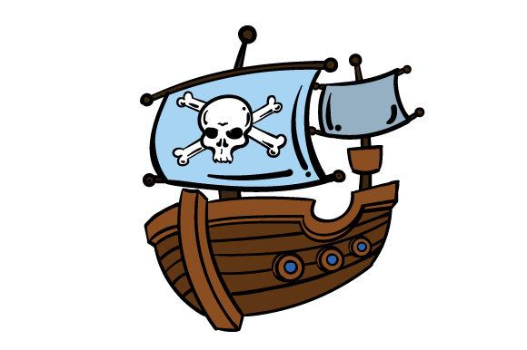 Cartoon Pirate Ship Svg Cut File By Creative Fabrica Crafts