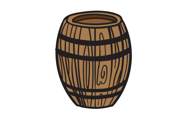 Download Free Cartoon Wooden Barrel Svg Cut File By Creative Fabrica Crafts for Cricut Explore, Silhouette and other cutting machines.