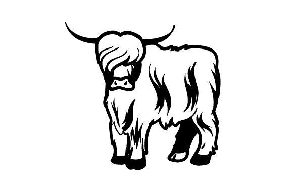 Highland Cattle Miniature Clip Art - Cow Goat Family - Dairy Transparent PNG