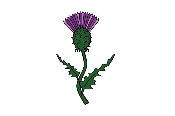 Cartoon Thistle Scotland Craft Cut File By Creative Fabrica Crafts