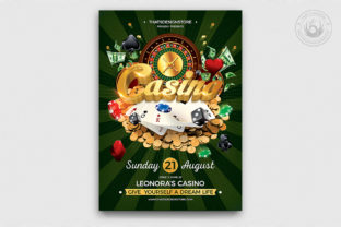 Download Free Casino Flyer Template V1 Graphic By Thatsdesignstore Creative for Cricut Explore, Silhouette and other cutting machines.