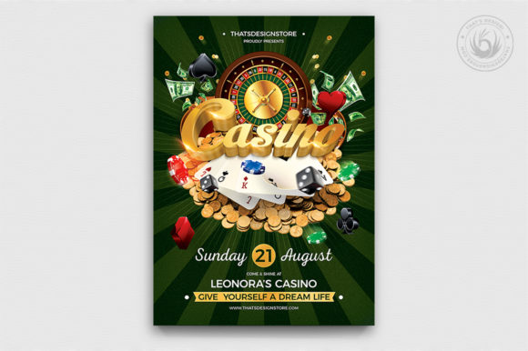 Casino Flyer Template V1 Graphic By ThatsDesignStore