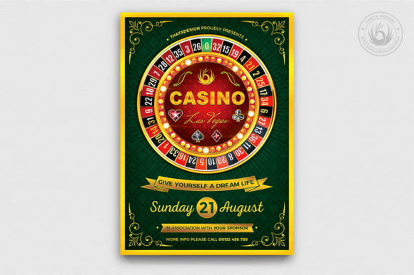 Casino Flyer Template V2 Graphic By ThatsDesignStore