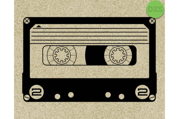 Print on Demand: Cassette Graphic Crafts By CrafterOks