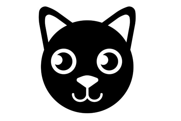 Print on Demand: Cat Icon Graphic Icons By Mine Eyes Design