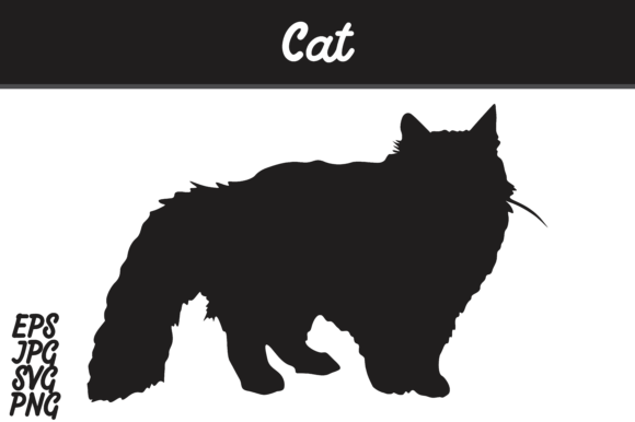Download Free Cat Graphic By Arief Sapta Adjie Creative Fabrica for Cricut Explore, Silhouette and other cutting machines.