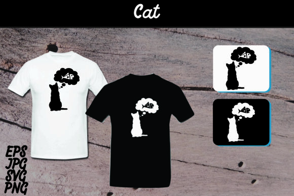 Print on Demand: Cat Silhouette Set SVG - T Shirt Design Graphic Crafts By Arief Sapta Adjie - Image 1
