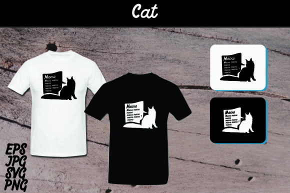 Cat Silhouette Set Svg T Shirt Design Graphic By Arief Sapta