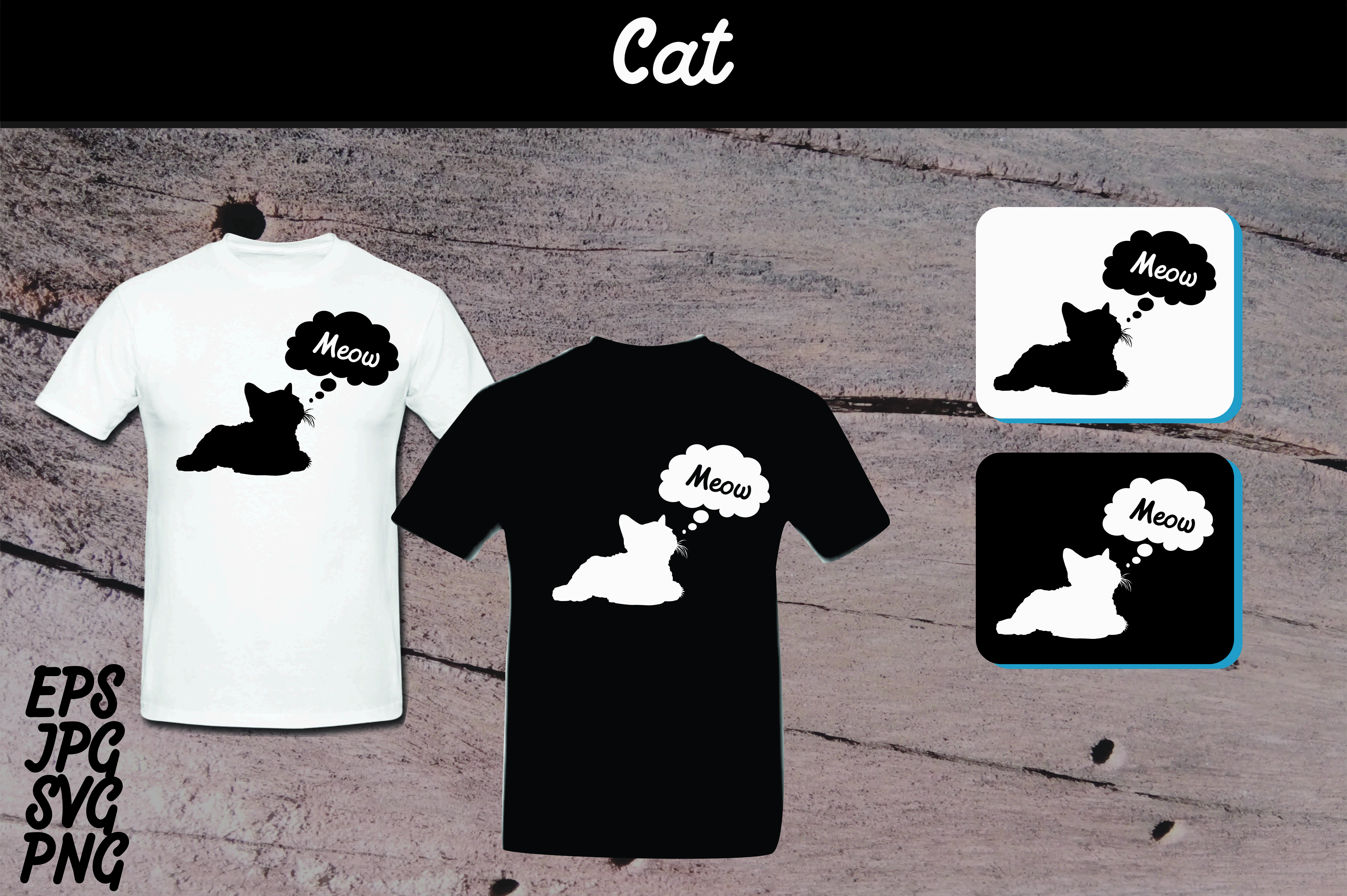 Download Free Cat Silhouette Set Svg Vector Image T Shirt Design Graphic By for Cricut Explore, Silhouette and other cutting machines.