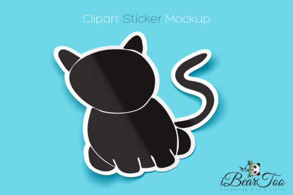 Download Free Cat Vector Clipart Drawing Black Graphic By Ibeartoo Creative for Cricut Explore, Silhouette and other cutting machines.