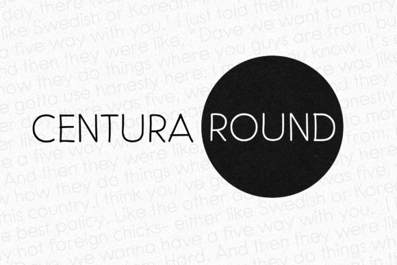Print on Demand: Centura Round Sans Serif Font By grin3
