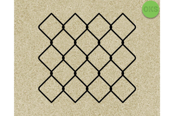 Print on Demand: Chain Link Fence Graphic Crafts By CrafterOks