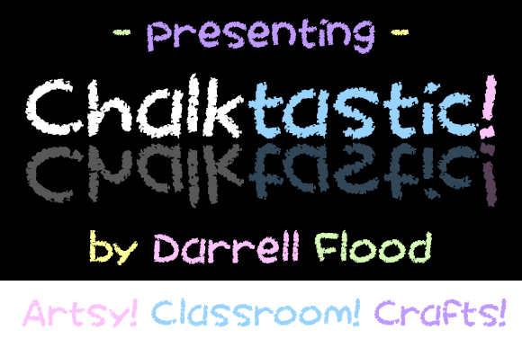 Print on Demand: Chalktastic Decorative Font By Dadiomouse