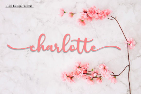 Print on Demand: Charlotte Script & Handwritten Font By Uloel Design