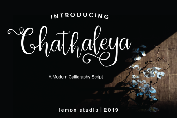 Print on Demand: Chathaleya Script & Handwritten Font By Lemon Studio