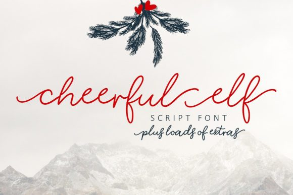 Download Free Cheerful Elf Font By Creativeqube Design Creative Fabrica for Cricut Explore, Silhouette and other cutting machines.