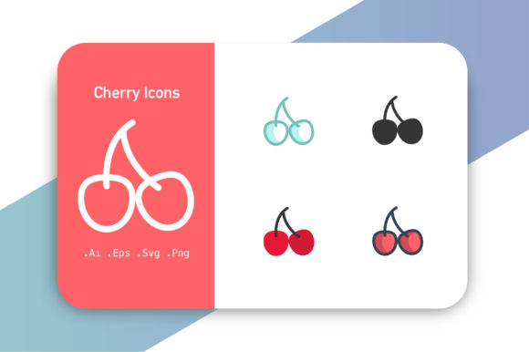Cherry Icons Graphic Icons By hellopixelzstudio