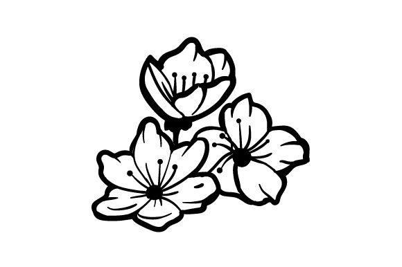 Download Free Cherry Blossoms Tattoo Archivos De Corte Svg Por Creative for Cricut Explore, Silhouette and other cutting machines.