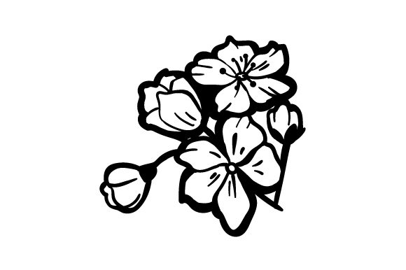 Download Free Cherry Blossoms Tattoo Svg Cut File By Creative Fabrica Crafts for Cricut Explore, Silhouette and other cutting machines.