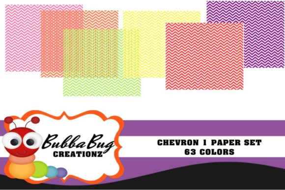 Chevron 1 Paper Set Graphic Patterns By BUBBABUG