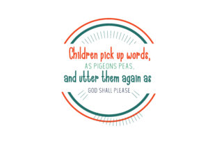 Download Free Children Pick Up Words As Pigeons Peas And Utter Them Again As for Cricut Explore, Silhouette and other cutting machines.