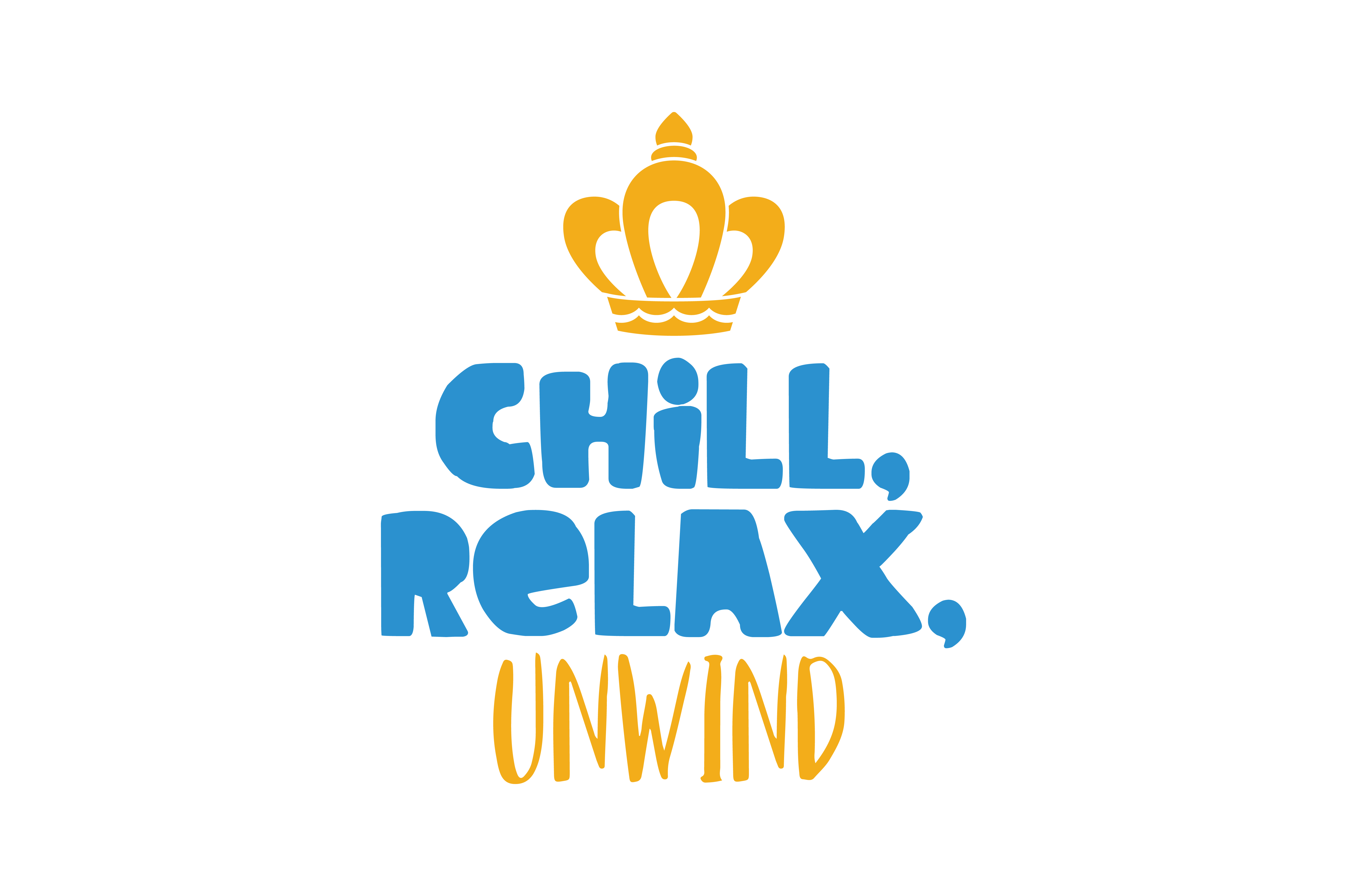 Chill Relax Unwind Quote Svg Cut Graphic By Thelucky